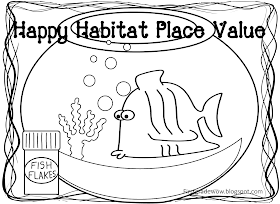 First Grade Wow: Happy Habitat Place Value Practice