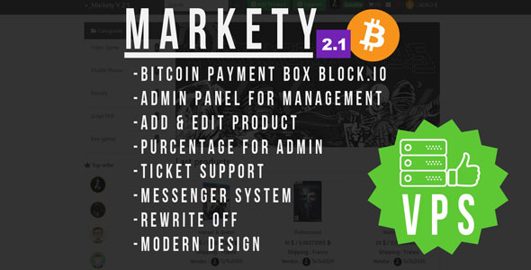 Markety v2.1 - Multi-Vendor Marketplace In Bitcoin PHP Download