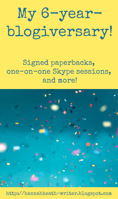 My 6-year-blogiversary! Signed paperbacks, one-on-one Skype sessions, and more!