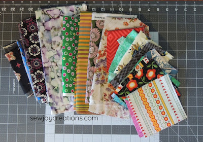fabric rejects liberated churn dash quilt