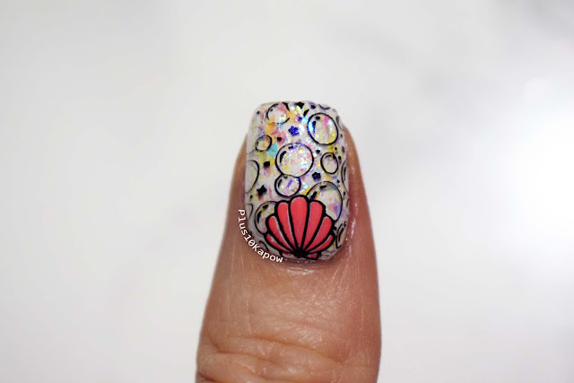 Maniology Mani X Me Mermaid MXM007 MXM008 Stamping Plate nails Barry M Fortune Teller