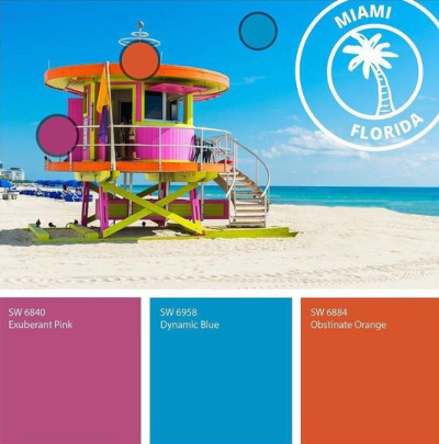 Paint Color Scheme South Beach Miami Florida
