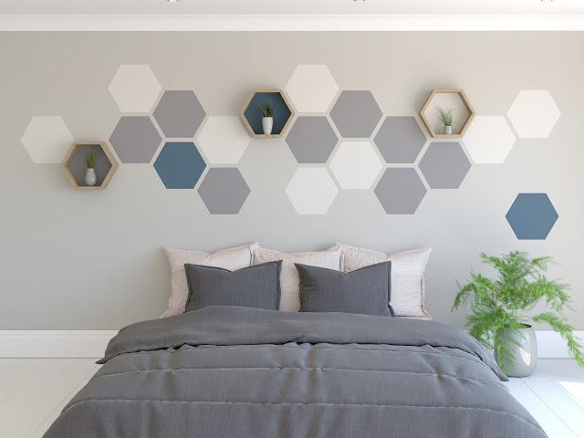 bedroom paint pattern ideas