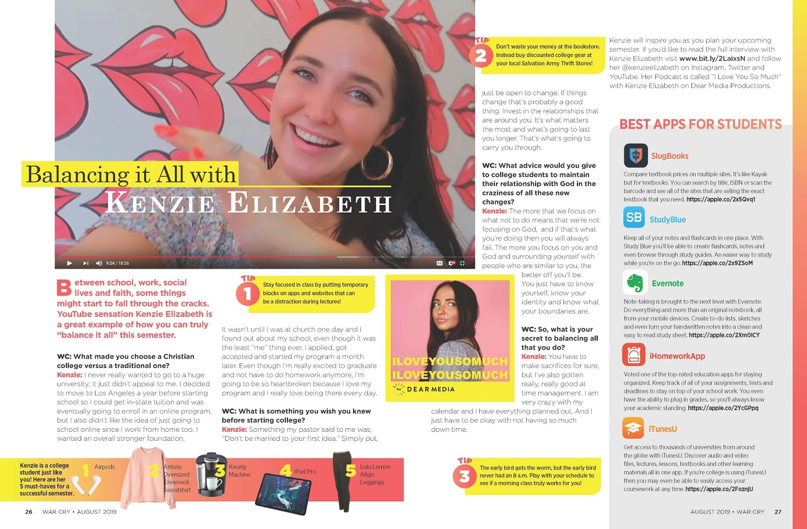 I Interviewed YouTuber Kenzie Elizabeth