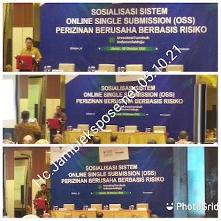 Asisten II Bidang Ekonomi Dan Pembangunan Membuka Sosialisasi OSS Perizinan Berusaha Berbasis Risiko