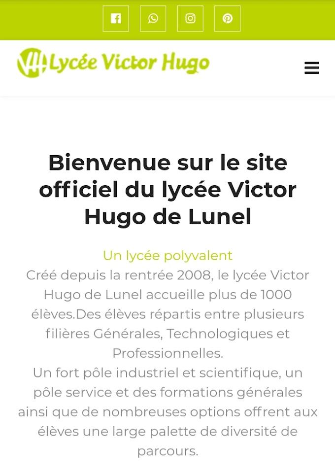 le site du lycée Victor Hugo de Lunel