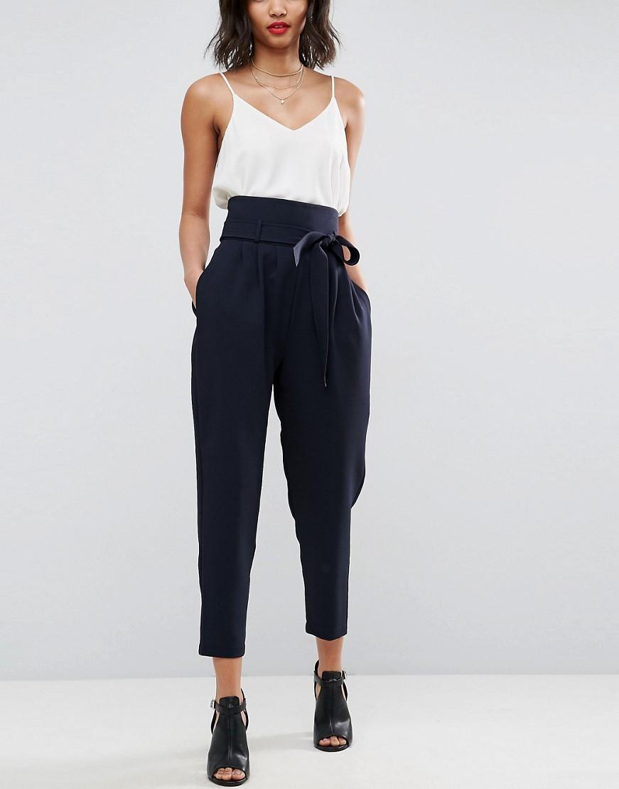 pantalone-vita-alta-cintura-fiocco-blu