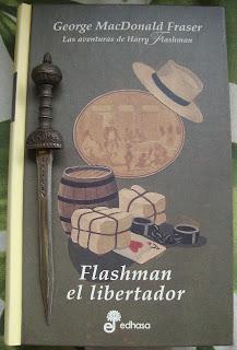 Portada del libro Flashman el libertador, George MacDonald Fraser