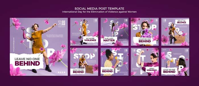 Elimination Violence Against Women Social Media Posts