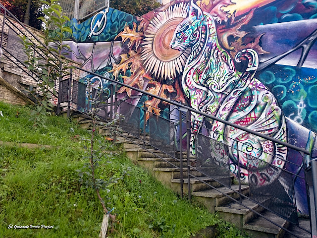 Mural 'Katu' Solokoetxe - Bilbao, por El Guisante Verde Project