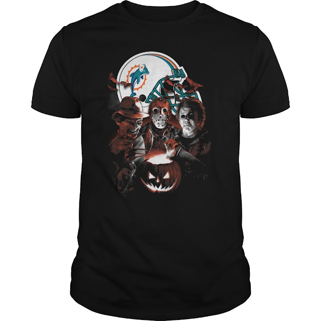 Miami Dolphins Halloween Scream Team Shirt