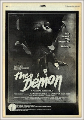 Ad for Percival Rubens' THE DEMON (1981) in Variety