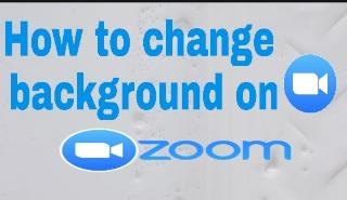 how to change backround on zoom