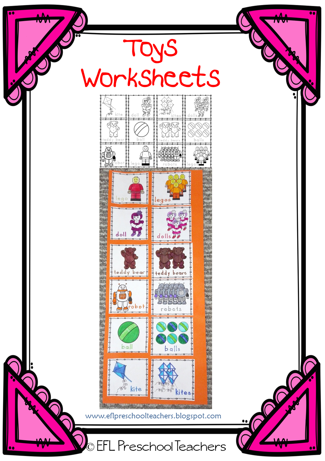 Esl Efl Preschool Teachers Toys Thematic Unit For Ell