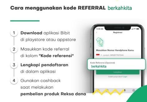 Promo! Kode Referral Bibit 'berkahkita' Dapatkan Cashback Langsung 50K sampai 75K Terbaru 2020