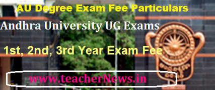 AU Degree fee last date, Exam Dates Download