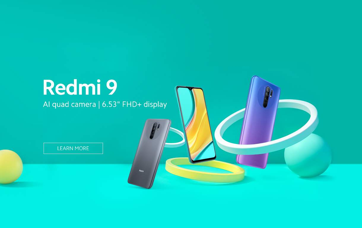 Spesifikasi Xiaomi Redmi 9 dan Variasi Warna (mi.com)