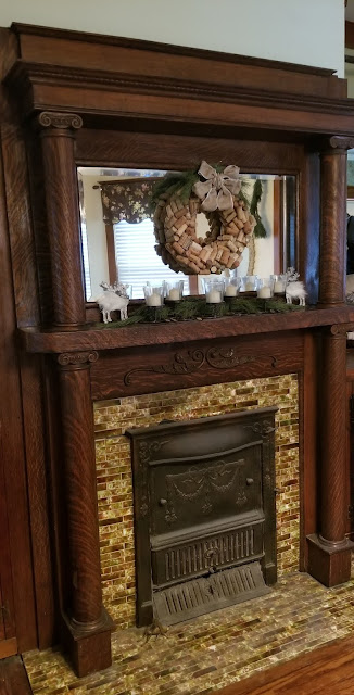 Sears mantel design No 263 and summer cover 128 3 Elm St Newton NJ Authenticated Sears No 163 of Reuben Talmage
