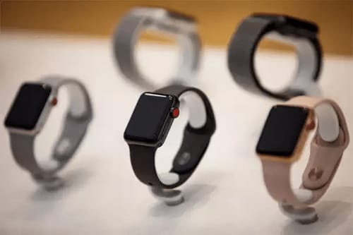 Unlike cell phones deliveries of smart watches increased in the first quarter of 2020