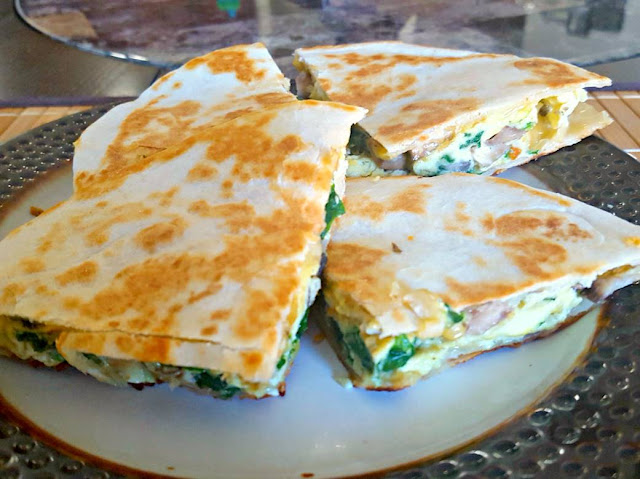 Loaded Breakfast Quesadilla