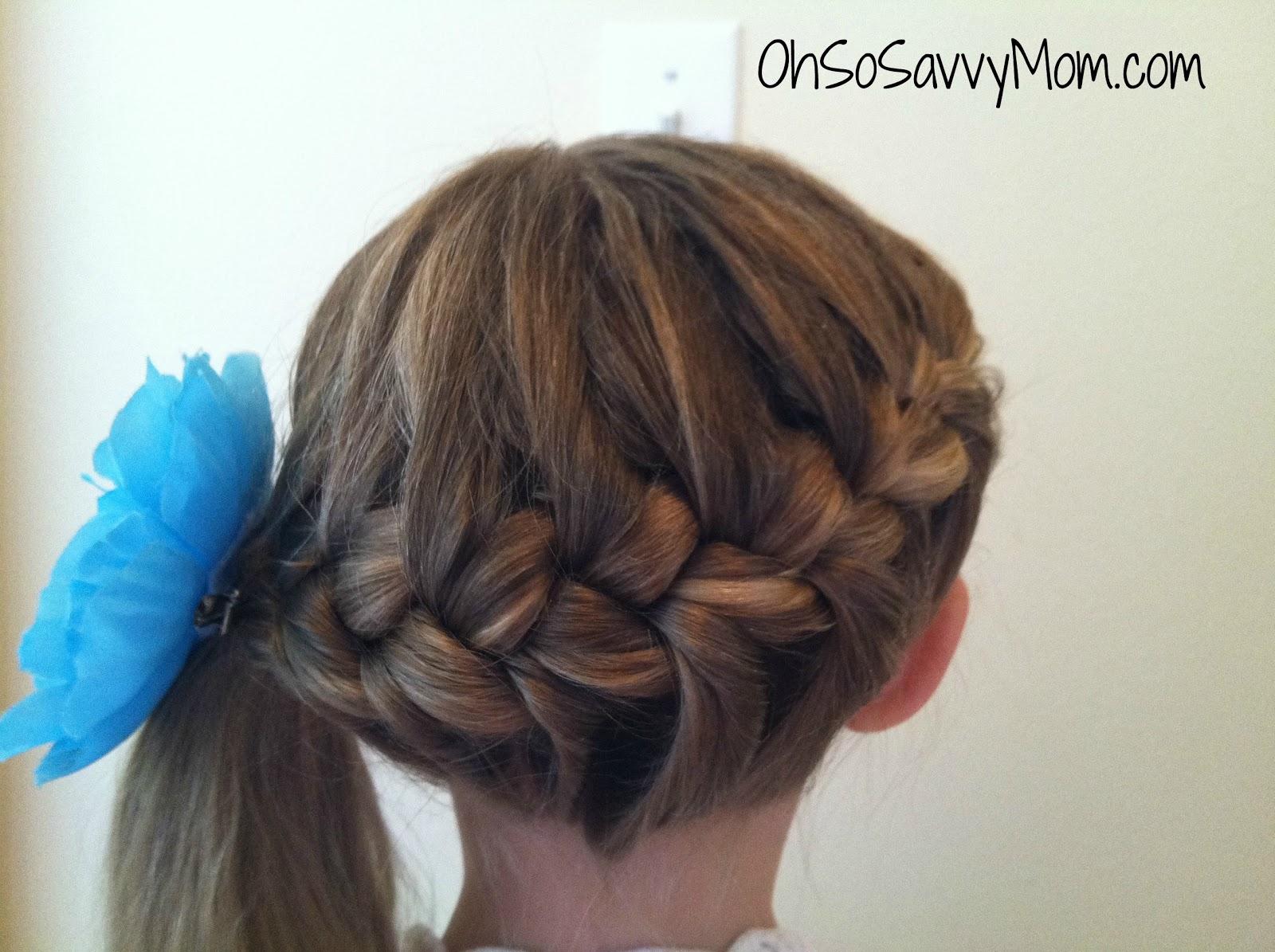 Wrap Around French Braid - Hair Tutorial - Oh So Savvy Mom