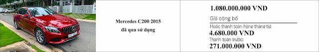 Giá xe Mercedes C200 2015 hấp dẫn bất ngờ