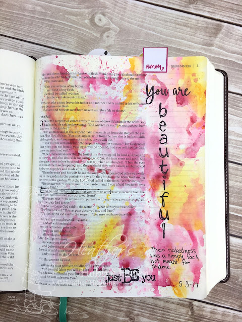 Heather's Hobbie Haven - Bible Journaling - Genesis 3:11