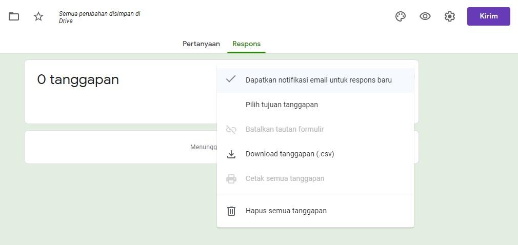 mendapatkan notifikasi email dari google form