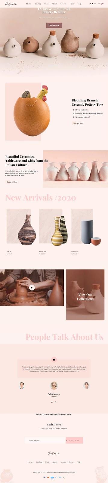 Handmade Ceramic Shop eCommerce Theme