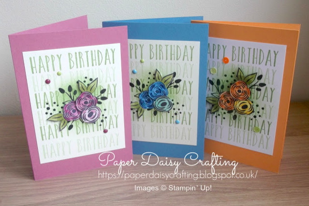 Nigezza Creates With Paper Daisy Crafting and Stampin Up Perennial Birthday