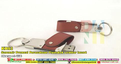 Souvenir Promosi Perusahaan Flashdisk Leather Insert