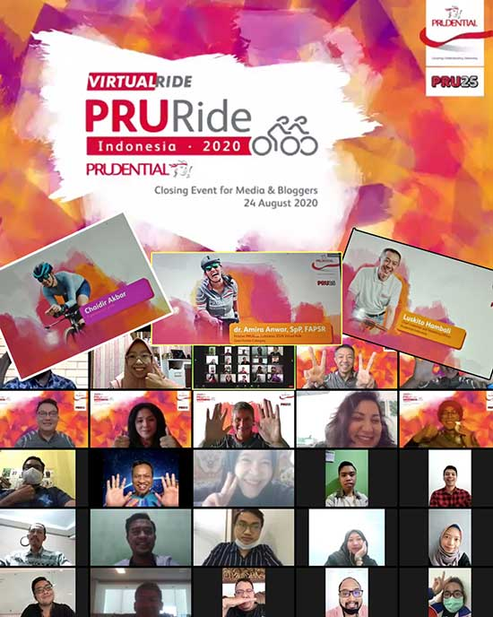 Acara Closing Event PRURide Indonesia 2020 Virtual Ride. (Dokpri)
