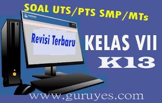 Soal PTS/UTS PJOK Kelas 7 Semester 1 Kurikulum 2013 Revisi Terbaru 2020