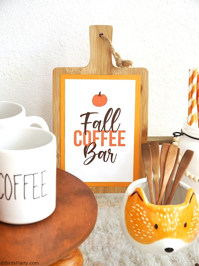 Fall Coffee Bar, DIY Farmhouse Decor and FREE Printables