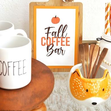 Fall Coffee Bar, DIY Farmhouse Decor and FREE Printables