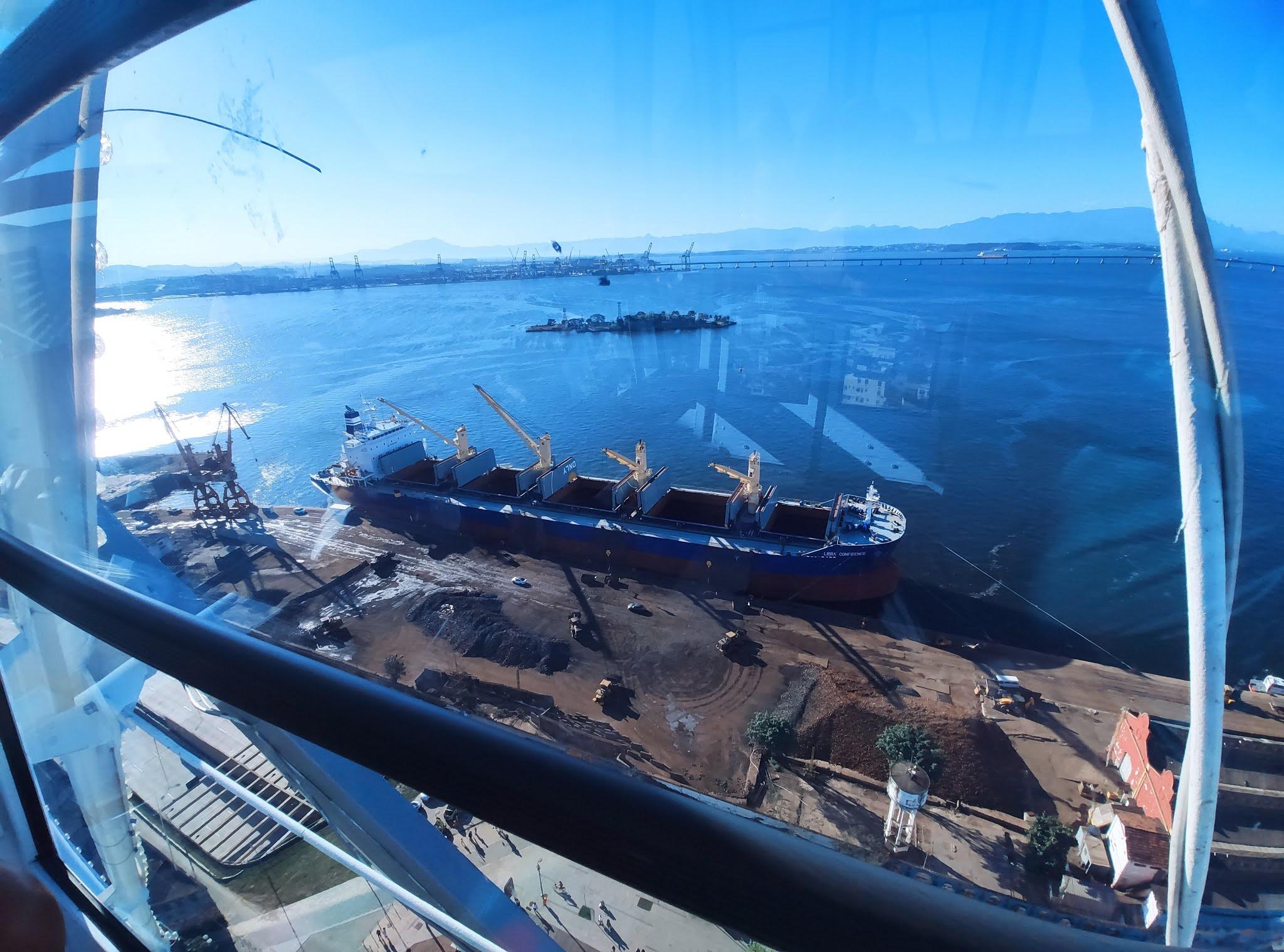 visão do porto da Rio Star