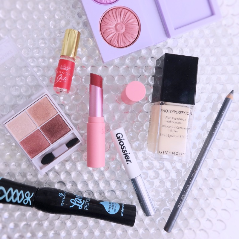Makeup look with rosy shades