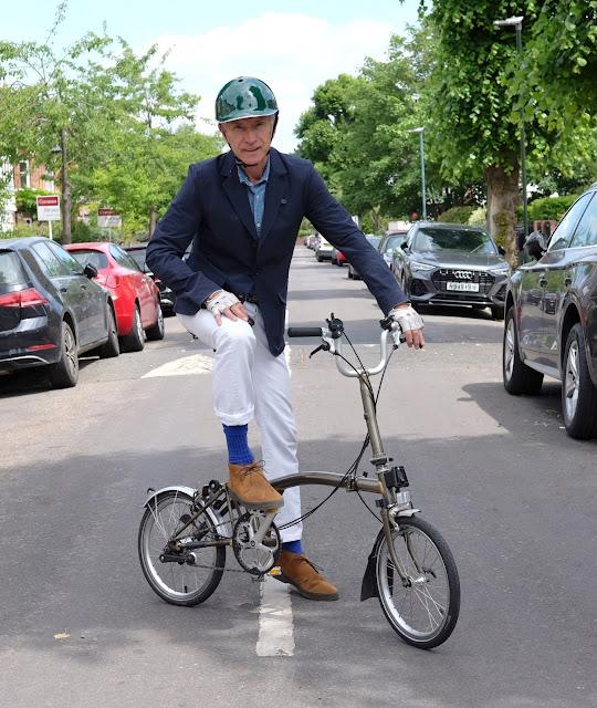 Cycling blazer Oliver Spencer x Brompton