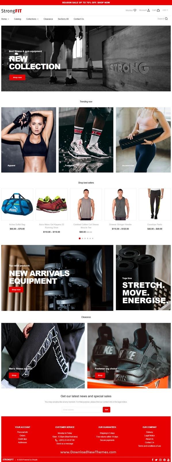 Fitness Club Shopify Theme