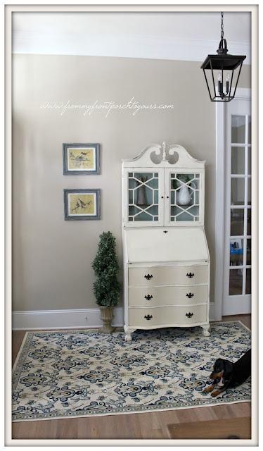 Farmhouse Foyer- Farmhouse Decor-Secretary-Carriage House Lighting-From My Front Porch To Yours