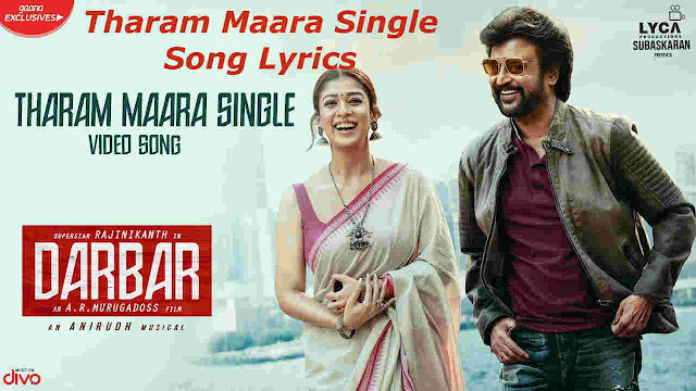 Tharam Maara Single Lyrics - Darbar