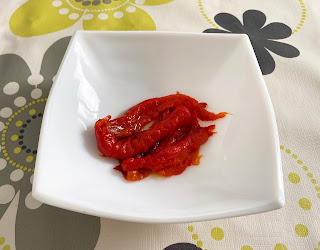 Microwave roasted red pepper