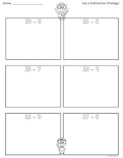 Subtraction Worksheets Teen Numbers