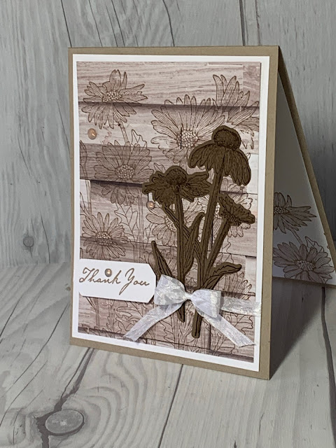 Floral Thank-You Card using Daisy Garden Stamp Set from Stampin' Up!