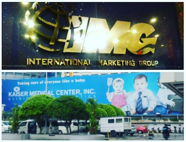 International Marketing Group office in King's Court Bldg, Makati.