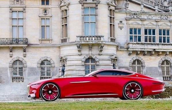 Mercedes Maybach Vision 6 Tampak Samping