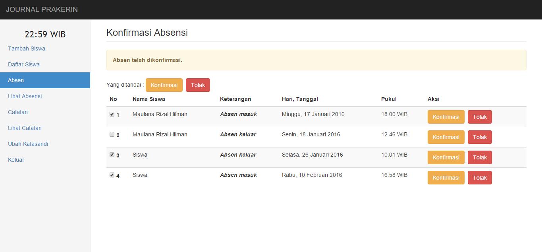 Sistem informasi Absensi Siswa PKL [PHP + MySQLi ...