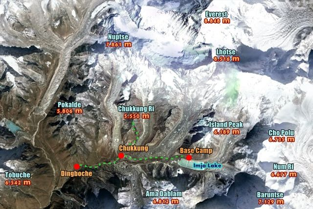 Trek-Campo-Base-Everest-Chukhung-map