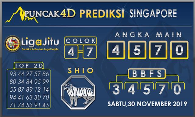 PREDIKSI TOGEL SINGAPORE PUNCAK4D 30 NOVEMBER2019