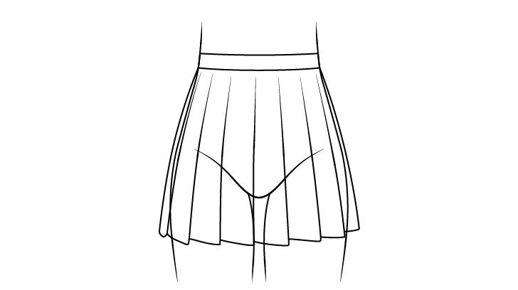 Gambar garis rok sekolah anime